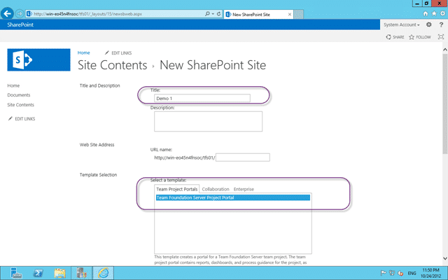 Team Foundation Project Portal for SharePoint 2013
