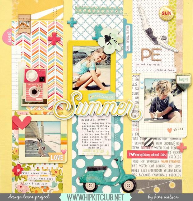 @HipKitClub @KimWatson @octoberafternoon @crate_paper @americancrafts #hipkitclub #scrapbooking #summercrafts #papercraft