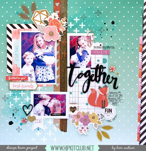 Kim Watson, Hip Kit Club, Scrapbooking, Paper Craft, Fall, Autumn, Memory Keeping, Pink Paislee,