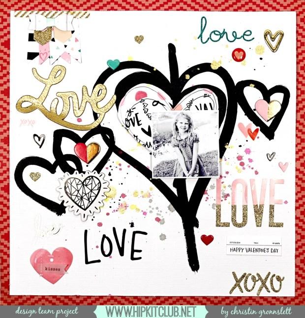 Christin Gronnslett - Love Love Love Hip Kit Club  01