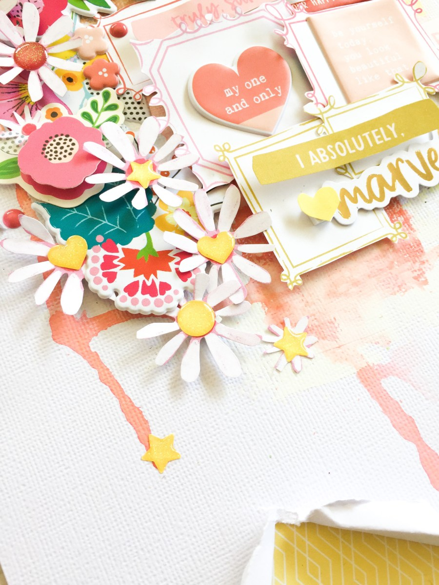 Colouring blocking and using the May Moodboard as inspiration with Felicity