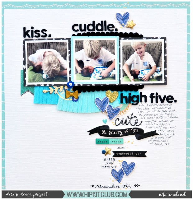 Kiss Cuddle High Five Niki Rowland Hip Kit Club August 2018 Maggie Holmes Willow Lane