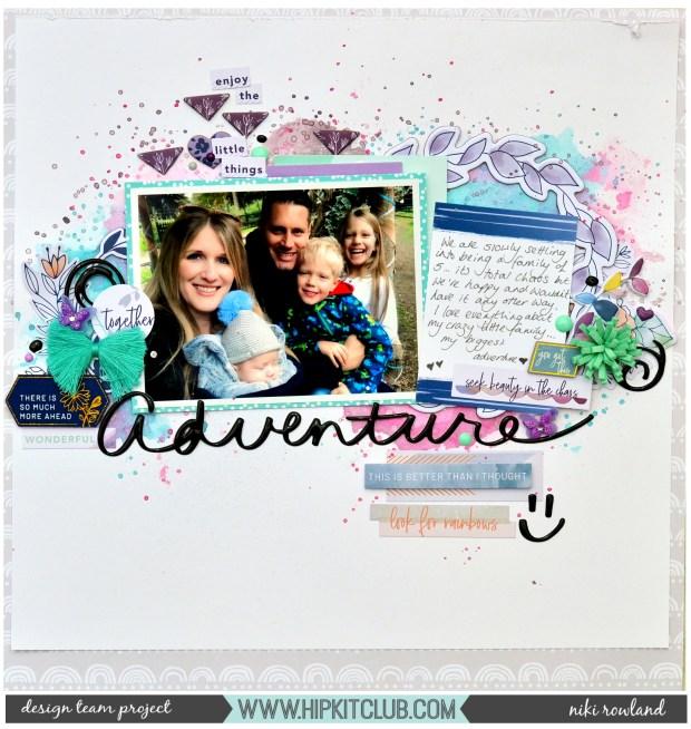 Adventure Niki Rowland Hip Kit Club Pinkfresh Studio Indigo Hills 2 Shimmerz Paints