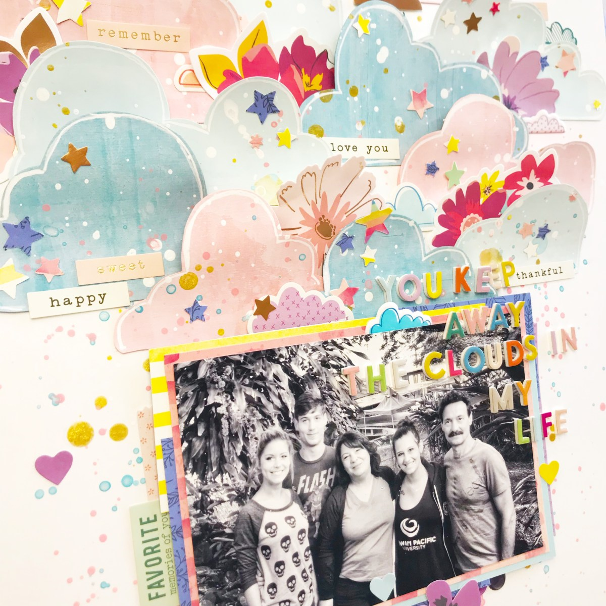 Moodboard inspired layout by Lisa