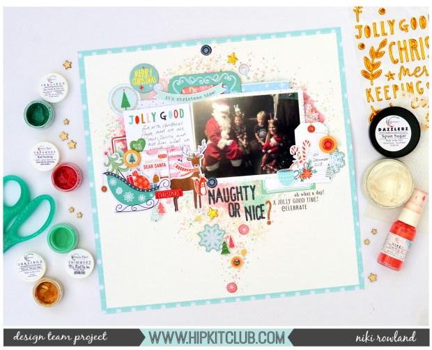 Naughty or Nice Niki Rowland Hip Kit Club December Set