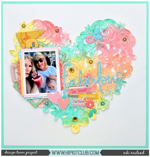 Fabulous Niki Rowland Hip Kit Club Prima Opal Magic Pinkfresh Studio Joyful Day