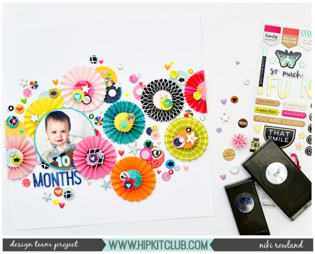10 Months Niki Rowland Hip Kit Club Vicki Boutin Color Kaleidescope Heidi Swapp Color Fresh Scrapbooking set