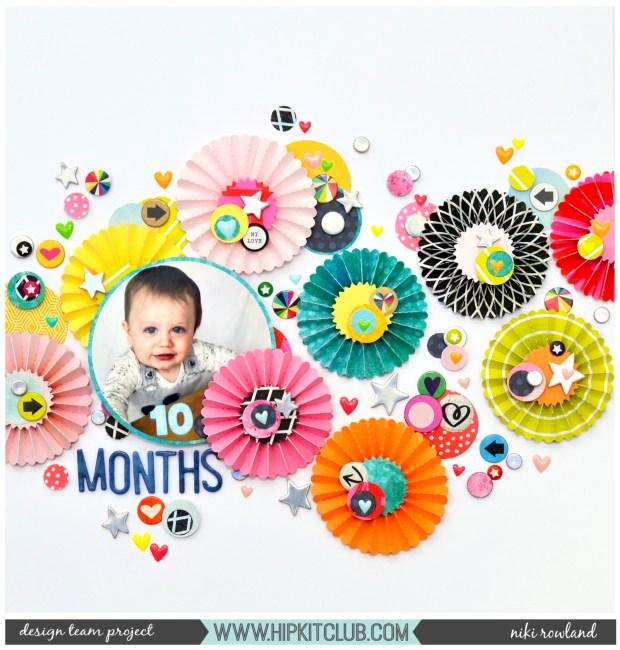 10 Months Niki Rowland Hip Kit Club Vicki Boutin Color Kaleidescope Heidi Swapp Color Fresh Scrapbooking