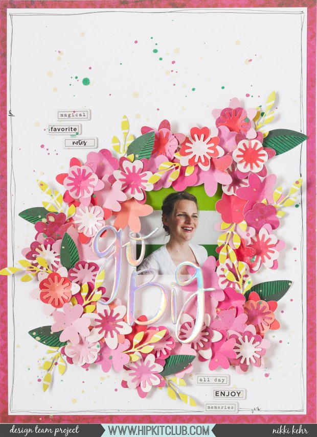 Hip Kit Club-June Kit 2019-B-Scrapbook Layout-Nikki Kehr-Nimena (1 von 6)_