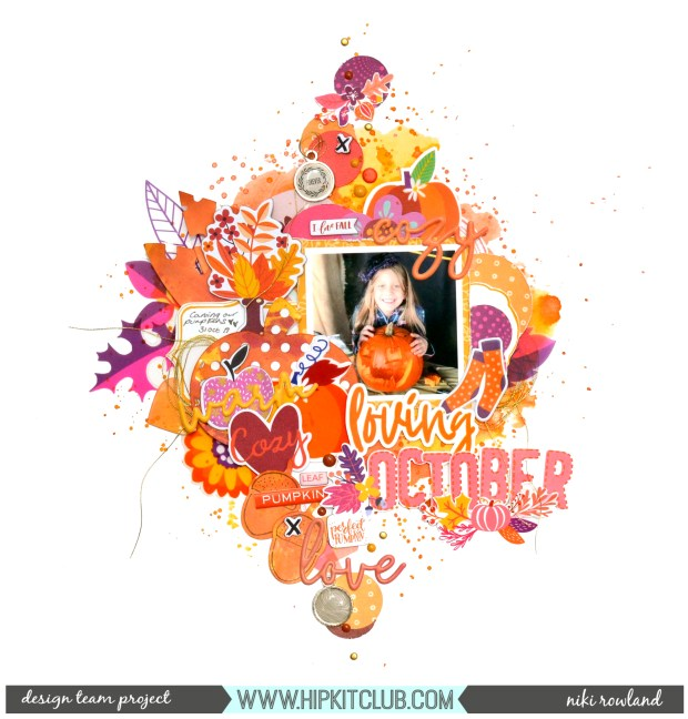 Loving October Niki Rowland Hip Kit Club October 2019 Lindy's Stamp Gang