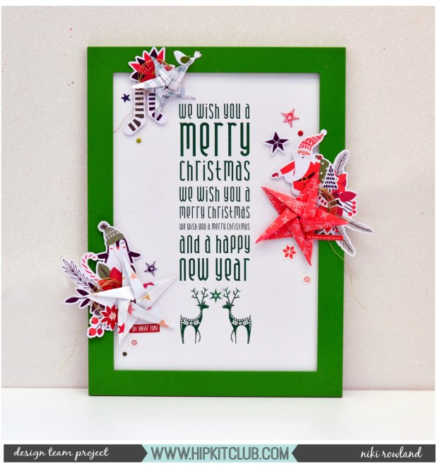 We wish you a Merry Christmas Niki Rowland hip kit club