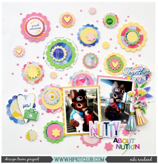 Nutty about Nutkin Niki Rowland Hip Kit Club Paige Evans Bloom Street scrapbooking