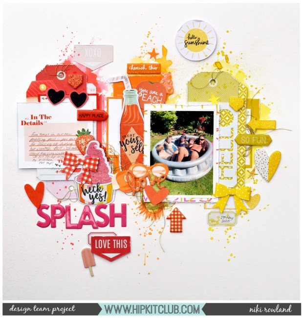 Splash Niki Rowland Hip Kit Club May 2020 kits The Stamp Market Amy Tangerine Picnic in the Park