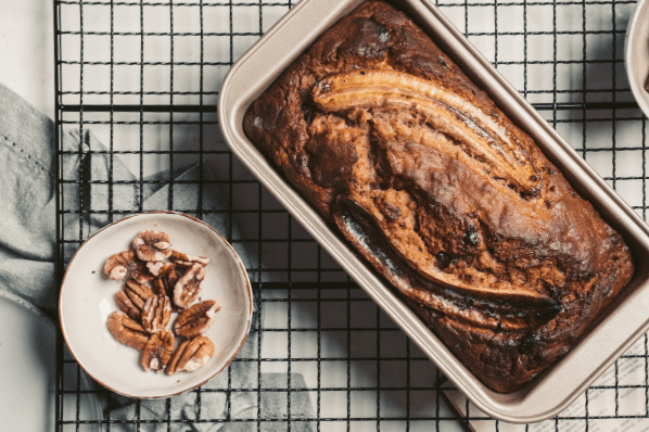 Banana Bread With Toasted Pecan Nuts