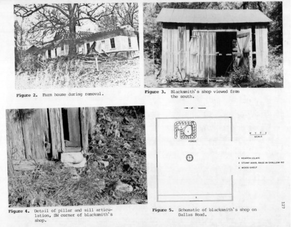 9Co26 Blacksmith shop. Page from The Florida Anthropo0logist, Vol 40, No. 2 (June 1987).