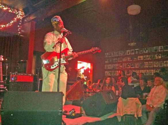 Li'l Ed Williams performs at Blind Willies, Mar. 17, 2013. Photo by author.