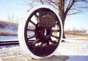 Marker, Jesse James Historical Site, Adair, Iowa.