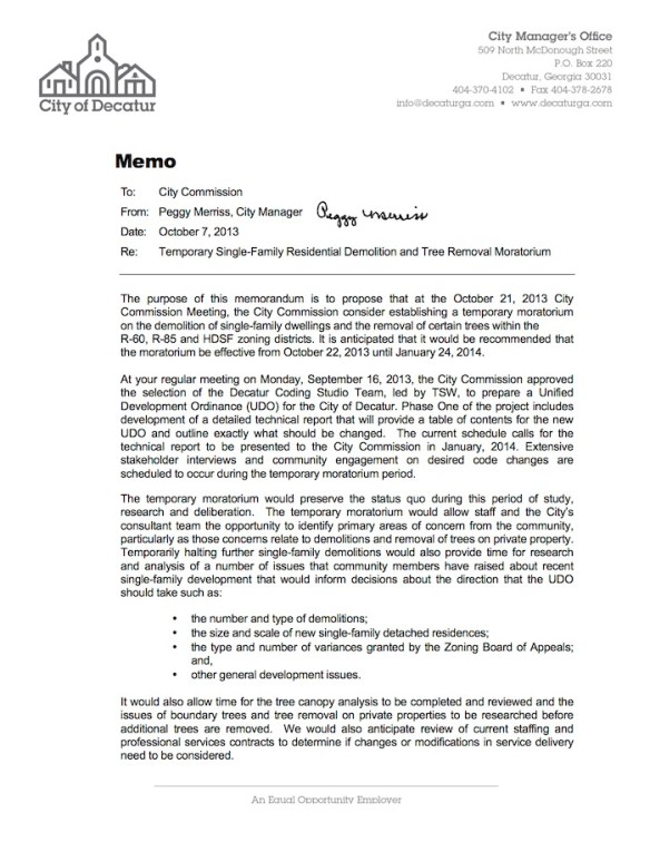 Memo_Moratorium Proposal 100713a