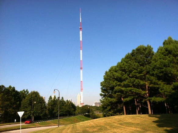 WSB broadcast tower, Atlanta, Ga.