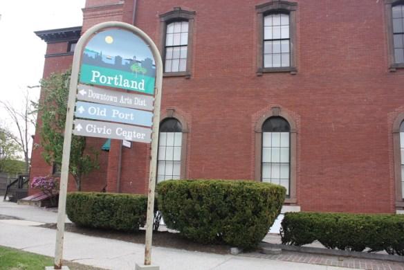 Portland wayfinding sign, May, 2014.