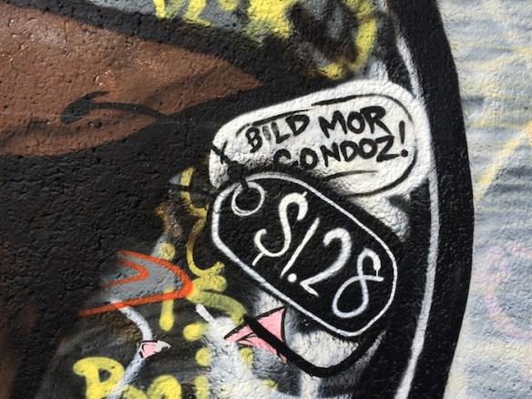 BeltLine graffiti, August 2014.