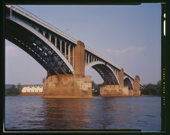 The 40th Street Bridge (Washington Crossing Bridge) replaced the 43rd Street Bridge and was completed in 1924. HAER photo by Joseph Elliot. Library of Congress, Prints and Photographs Division.