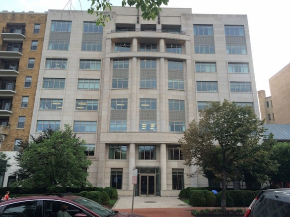The Heritage Foundation's Washington, D.C., headquarters.