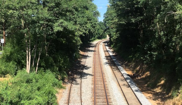 The other side of the tracks: Lyttonsville is on the left and the Woodside neighborhoods are on the right.