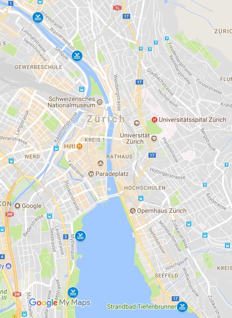 Swimming spots in Zurich