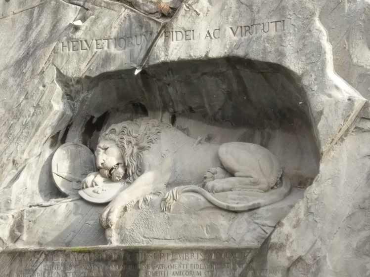 Löwendenkmal in Luzern