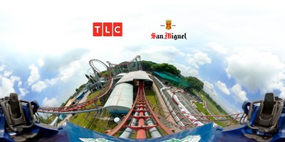 Singapore 360 VR roller coaster drone underwater