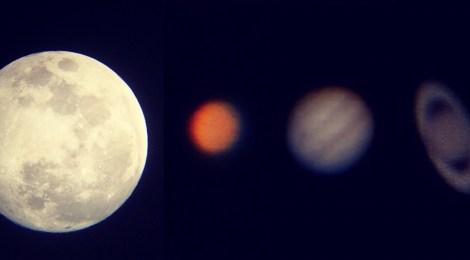 天文盛宴 - 火星大衝與月全食之夜