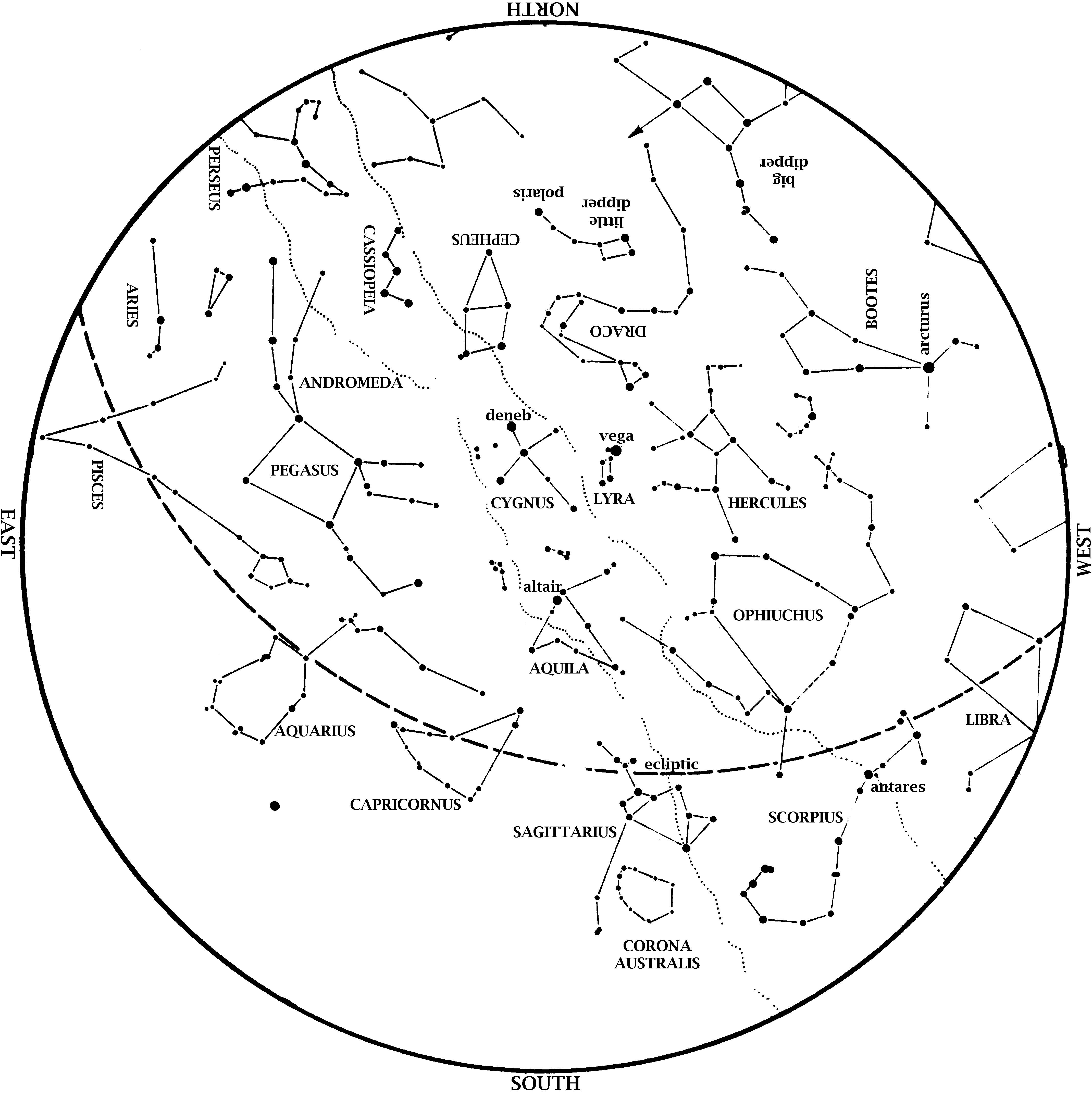 Star Map September