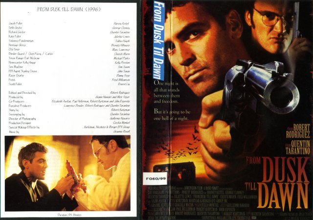 From Dusk Till Dawn VHS