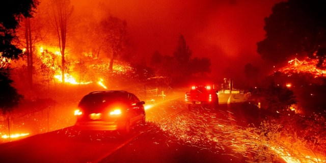 California is ablaze (image by Noah Berger, AP)