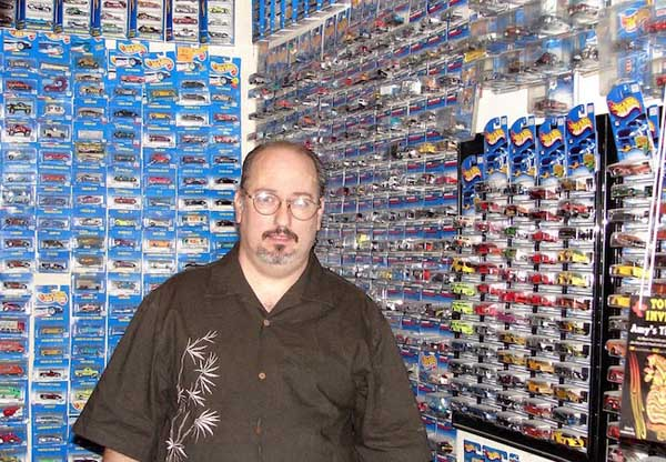 Rob with just a small portion of his collection.