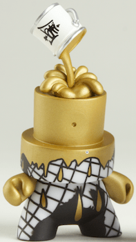 kidrobot cover the cap gold fatcap