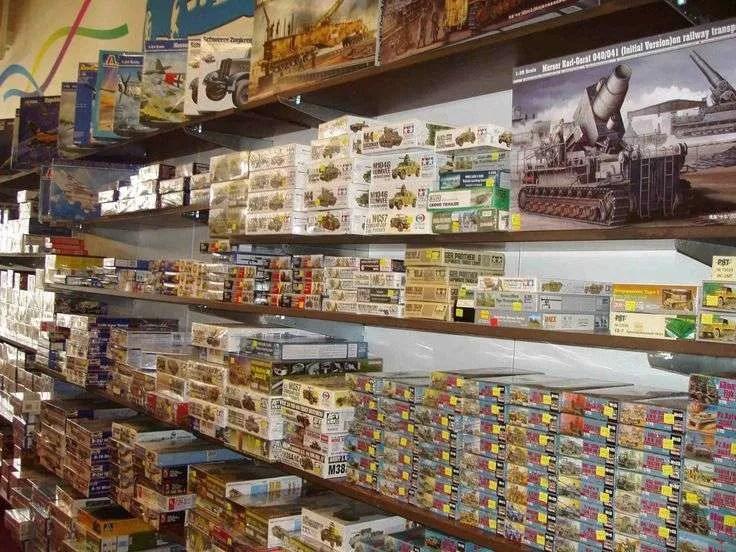 Model Kits on the Shelves