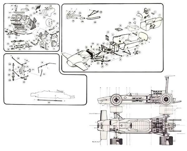 Heller Lotus 49B Cosworth
