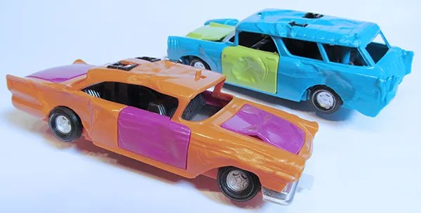 Kenner SSP Smash Up Derby 1957 Ford Fairlane Chevy Nomad