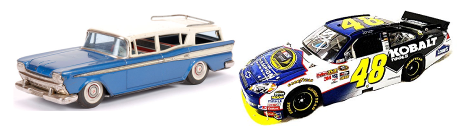 Bandai Tinplate versus Jeff Gordon NASCAR model