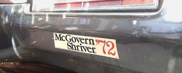 mcgovern bumper sticker