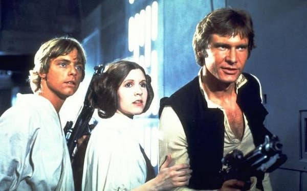 luke skywalker princess leia han solo