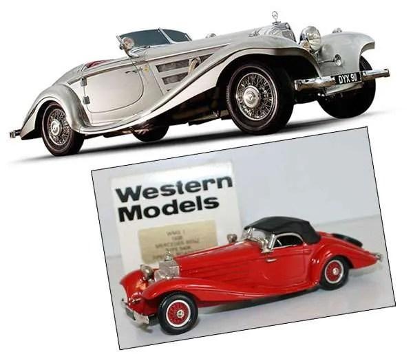 western models 1937 Mercedes 540K