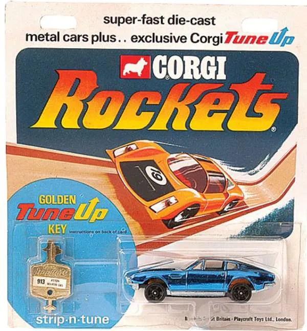 corgi rockets blister card