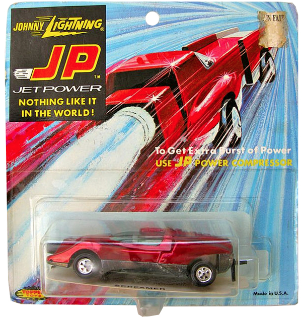 johnny lightning jet power blister card