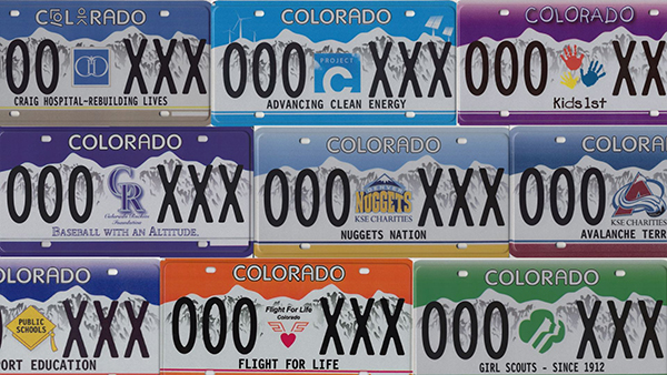 Specialty Colorado license plate