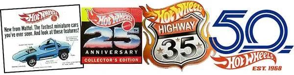 hot wheels anniversaries