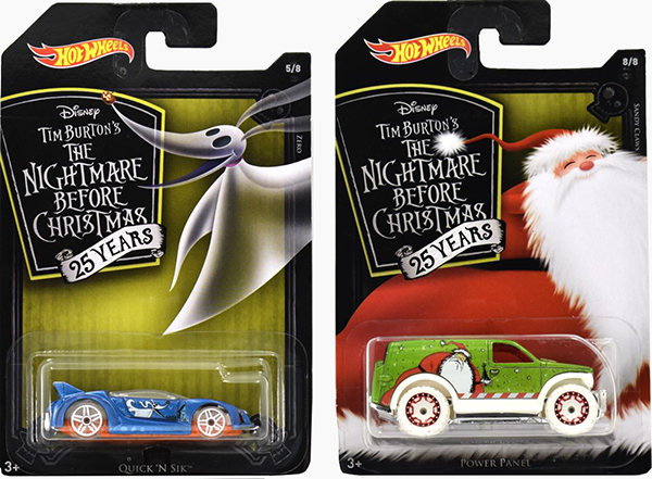 nightmare before christmas hot wheels
