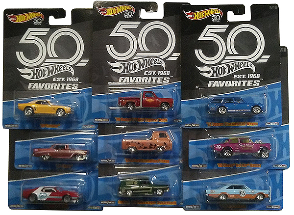 hot wheels 50th favorites